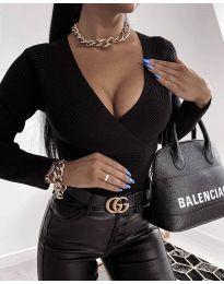 Блуза - код 6392 - црна