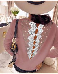 Блуза - код 7077 - розова