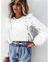 Блуза - код 6615 - бело