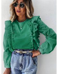 Блуза - код 6615 - путер зелена