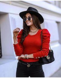 Блуза - код 4448 - црвена