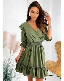 Фустан - код 8554 - зелена