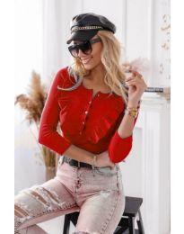 Блуза - код 9792 - 1 - црвена