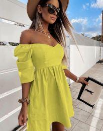 Фустан - код 7413 - жолта