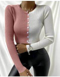 Блуза - код 6366 - 6 - шарена