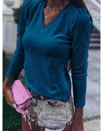 Блуза - код 0755 - тиркизна
