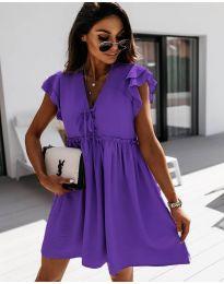 Фустан - код 2093 - темно виолетова