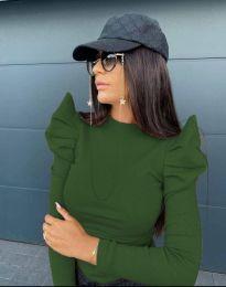 Блуза - код 2838 - 5 - зелена