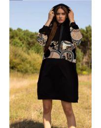 Фустан - код 4546 - 4 - црна