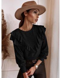 Блуза - код 7200 - црна