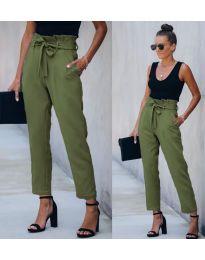 Панталони - код 6077 - 7 - зелена