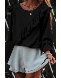 Блуза - код 6009 - црна