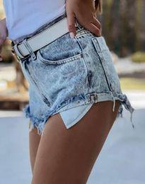 Къси дънкови панталонки в светлосиньо - код 4316