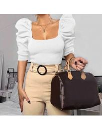 Блуза - код 9867 - бела