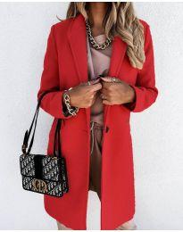Палто - код 7709 - црвена