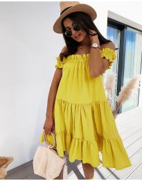 Фустан - код 805 - жолта