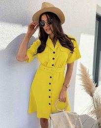 Фустан - код 8137 - жолта