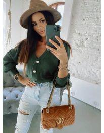 Блуза - код 241 - зелена