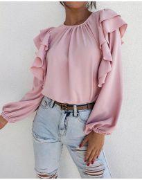 Блуза - код 1603 - 2 - розова