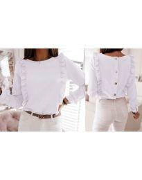 Блуза - код 4171 - бело