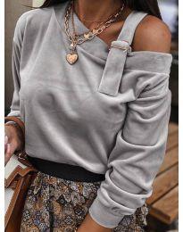 Блуза - код 280 - сиво