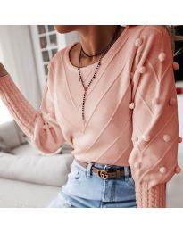 Блуза - код 5753 - пудра