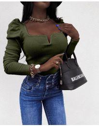 Блуза - код 2620 - путер зелена