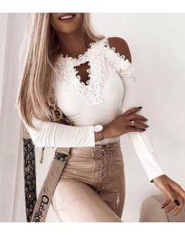 Блуза - код 4268 - бело