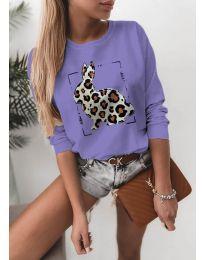 Блуза - код 4001 - виолетова