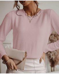 Блуза - код 1580 - 2 - розова