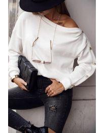 Блуза - код 4640 - бела