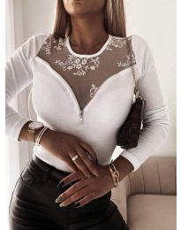 Блуза - код 8782 - бело