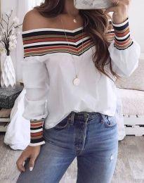 Блуза - код 2920 - 2 - бело