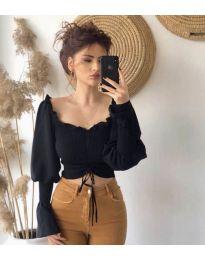 Блуза - код 896 - црна
