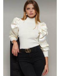 Блуза - код 7868 - бело
