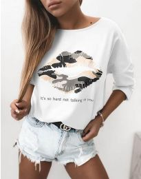 Блуза - код 5263 - бело