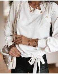 Блуза - код 6865 - 1 - бела