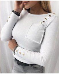 Блуза - код 1597 - 3 - бело