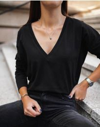 Блуза - код 3574 - црна