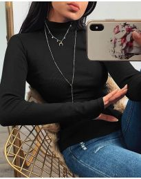 Блуза - код 4207 - црна
