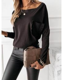 Блуза - код 0382 - црна