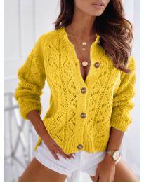 Кардиган - код 6533 - жолта