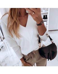 Блуза - код 0990 - бело