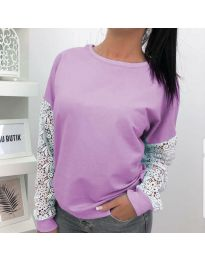 Блуза - код 4060 - 2 - виолетова