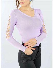Блуза - код 6776 - светло виолетова