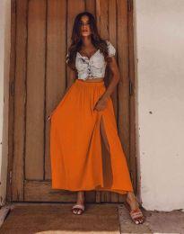 Сукња - код 8231 - портокалова