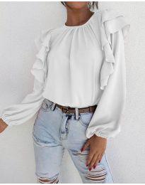 Блуза - код 1603 - 3 - бело