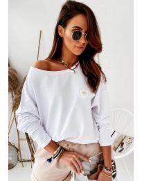 Блуза - код 4026 - бело