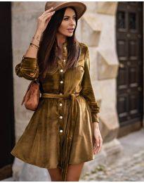 Фустан - код 3999 - кафеава