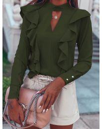 Блуза - код 7715 - путер зелена